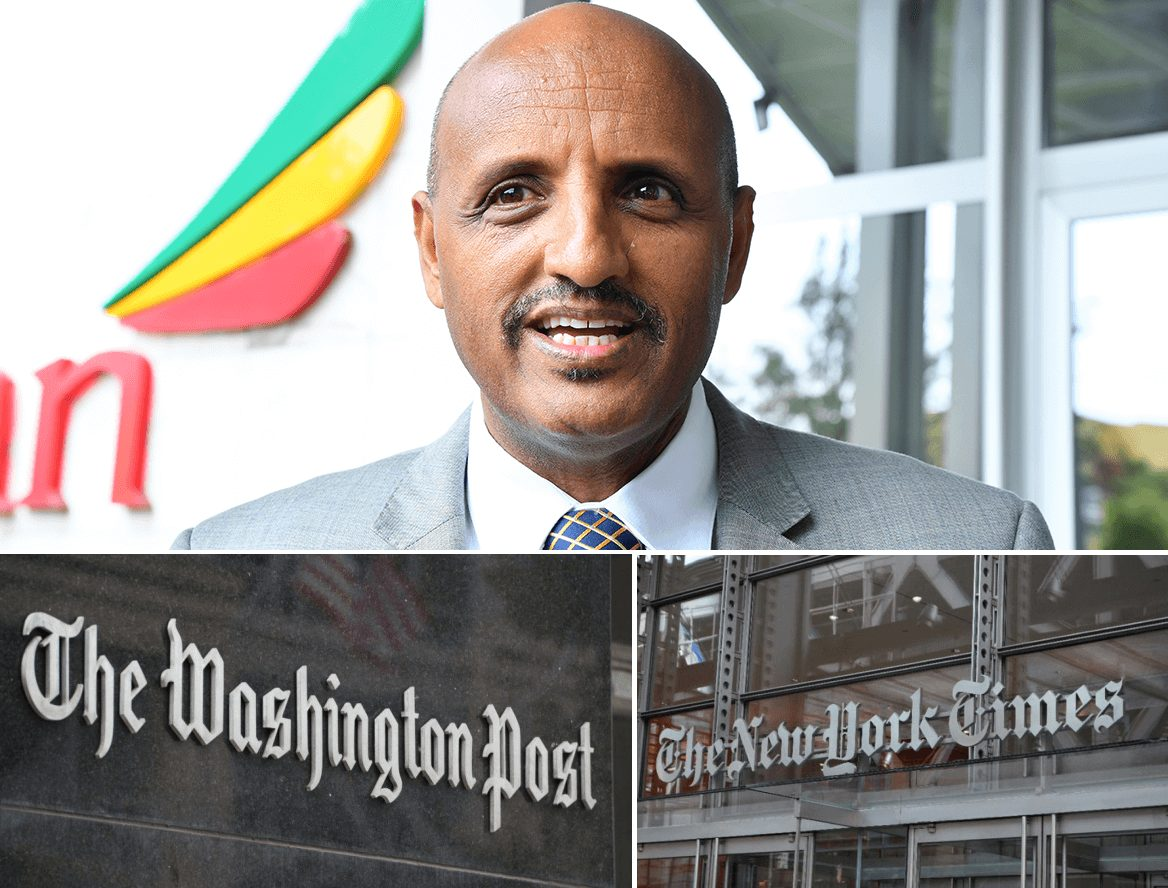 Ethiopian Airlines to Sue Washington Post and New York Times