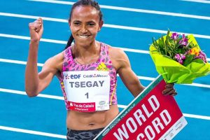 Ethiopia's Gudaf Tsegay sets new indoor world record in 1,500 meters