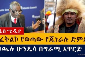 አፈትልኮ የወጣው የጄነራሉ ድምጽ | ሀጫሉ ሁንዴሳ በግራሚ አዋርድ | General Yohannes Gebremeskel – Addis Media